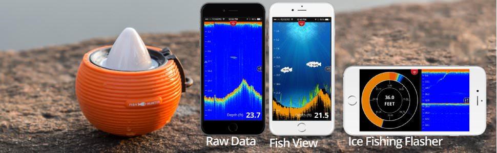 FishHunter Military Grade Portable Fish Finder 3.0 spec