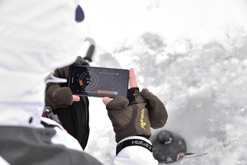 ice Fishing with Deep Fish Finder